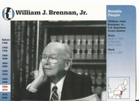 1995 Grolier, Story Of America Card, #120.01 Willaim Brennan, Supreme Court