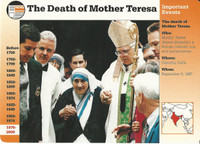 1995 Grolier, Story Of America Card, #120.02 Death of Mother Teresa