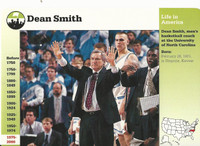 1995 Grolier, Story Of America Card, #120.09 Dean Smith, Basketball Coach