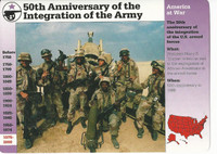1995 Grolier, Story Of America Card, #120.12 Integration of the Army