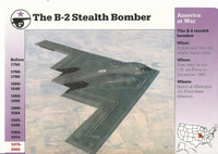 1995 Grolier, Story Of America Card, #120.13 B-2 Stealth Bomber