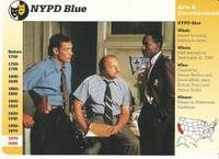 1995 Grolier, Story Of America Card, #120.19 NYPD Blue TV Show