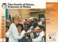 1995 Grolier, Story Of America Card, #121.01 Death of Princess Diana