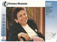 1995 Grolier, Story Of America Card, #121.03 Donna Shalala