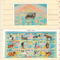 Gambia, Postage Stamp, #1400, 1403 Sheets Mint NH, 1993 Dogs, JFZ
