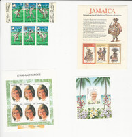 Jamaica, Postage Stamp, #268a, 418a, 842, 871 Mint NH, JFZ