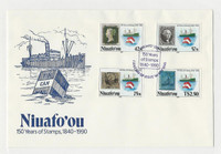 Tonga, Postage Stamp, #125-128 First Day Cover, 1990 Niuafo'ou, JFZ