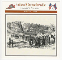 1995 Atlas, Civil War Cards, #10.05 Battle Chancellorsville, Hooker Strategy
