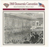1995 Atlas, Civil War Cards, #12.01 1860 Democratic Convention