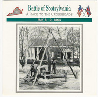 1995 Atlas, Civil War Cards, #12.10 Battle of Spotsylvania, Virginia