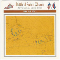 1995 Atlas, Civil War Cards, #13.06 Battle Salem Church, Virginia