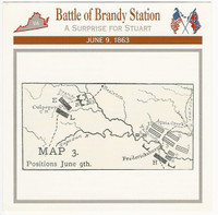 1995 Atlas, Civil War Cards, #13.07 Battle Brandy Station, Virginia