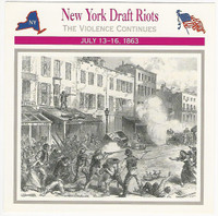 1995 Atlas, Civil War Cards, #13.18 New York Draft Riots