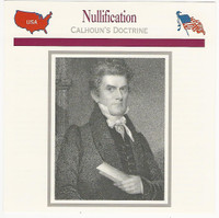 1995 Atlas, Civil War Cards, #14.01 Nullification, John C. Calhoun