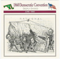 1995 Atlas, Civil War Cards, #14.02 1860 Democratic Convention, Lincoln
