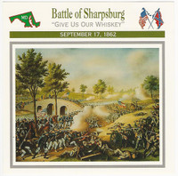 1995 Atlas, Civil War Cards, #14.05 Battle Sharpsburg, Antietam