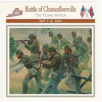 1995 Atlas, Civil War Cards, #14.07 Battle of Chancellorsville, Virginia