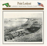 1995 Atlas, Civil War Cards, #14.17 Point Lookout, Maryland, Prison