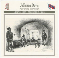 1995 Atlas, Civil War Cards, #14.20 Jefferson Davis, In Prison