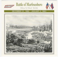 1995 Atlas, Civil War Cards, #16.06 Battle Murfreesboro, Tennessee