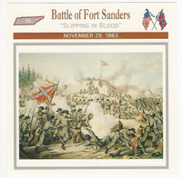 1995 Atlas, Civil War Cards, #16.08 Battle of Fort Sanders, Tennessee