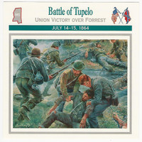 1995 Atlas, Civil War Cards, #16.09 Battle of Tupelo, Mississippi