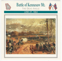 1995 Atlas, Civil War Cards, #16.10 Battle Kennesaw Mountain, Georgia