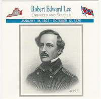 1995 Atlas, Civil War Cards, #17.14 Robert E. Lee