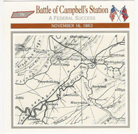 1995 Atlas, Civil War Cards, #18.07 Battle Campbell's Station, Tennessee