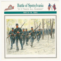 1995 Atlas, Civil War Cards, #18.09 Battle of Spotsylvania