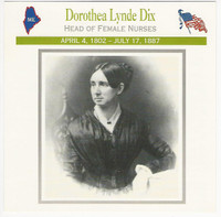 1995 Atlas, Civil War Cards, #18.15 Dorothea Lynde Dix, Nurse
