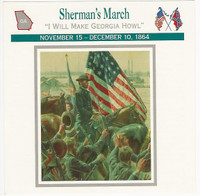 1995 Atlas, Civil War Cards, #19.09 Sherman's March, Georgia