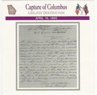 1995 Atlas, Civil War Cards, #19.10 Capture of Columbus, Georgia