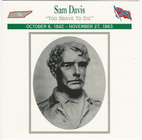 1995 Atlas, Civil War Cards, #19.11 Sam Davis, Tennessee
