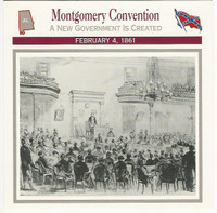 1995 Atlas, Civil War Cards, #41.01 Montgomery Convention, Alabama