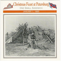 1995 Atlas, Civil War Cards, #41.11 Christmas Feast at Petersburg, Virginia