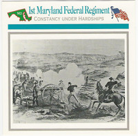 1995 Atlas, Civil War Cards, #41.16 1st Maryland Federal Regiment