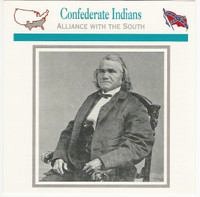 1995 Atlas, Civil War Cards, #42.16 Confederate Indians, General Watie