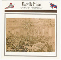 1995 Atlas, Civil War Cards, #105.13 Danville Prison, Virginia