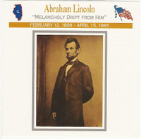 1995 Atlas, Civil War Cards, #106.03 President Abraham Lincoln