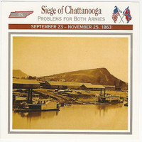 1995 Atlas, Civil War Cards, #106.06 Siege Chattanooga, Tennessee