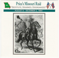 1995 Atlas, Civil War Cards, #106.09 General Price Missouri Raid