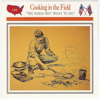 1995 Atlas, Civil War Cards, #107.13 Cooking in the Field