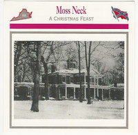 1995 Atlas, Civil War Cards, #107.19 Moss Neck Plantation, Virginia