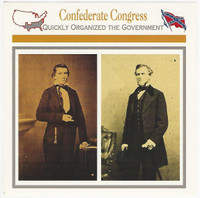 1995 Atlas, Civil War Cards, #108.03 Confederate Congress. Jefferson Davis