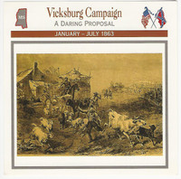 1995 Atlas, Civil War Cards, #109.05 Vicksburg Campaign, Mississippi