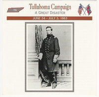 1995 Atlas, Civil War Cards, #109.06 Tullahoma Campaign, Colonel Wilder