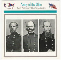 1995 Atlas, Civil War Cards, #109.17 Army Ohio, General Buell, Burnside, Schofield