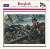1995 Atlas, Civil War Cards, #109.18 Pennsylvania