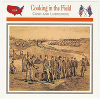 1995 Atlas, Civil War Cards, #110.10 Cooking in the Field